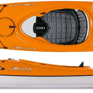 Strap yourself in for a beautiful ride in the Delta 12s Lightweight Touring Kayak. With enough storage to please the overnight camper and playful for the advanced paddlers can have a ball in the surf. Made in Canada from thermo-formed ABS plastic to achieve composite like weight and strength.