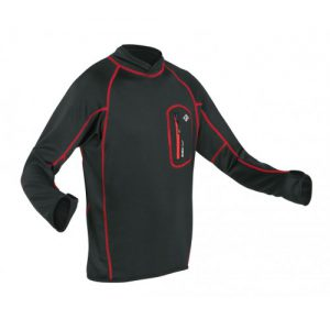 This thermal top will keep you warm and toastie when paddling. Perfect for spring and autumn conditions and can also be used in conjunction with a waterproof cag for colder wather paddling. Made from synthetic fibres to wick moisture away from the body and keep you dry and warm. A super handy key pocket is stitched onto the chest. What are you waiting for? Dust off the cobwebs and hit the water.